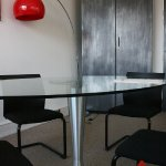 table verre pied tulipe...